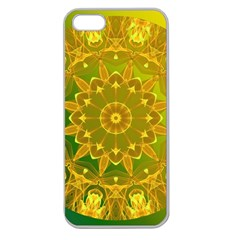 Yellow Green Abstract Wheel Of Fire Apple Seamless Iphone 5 Case (clear)