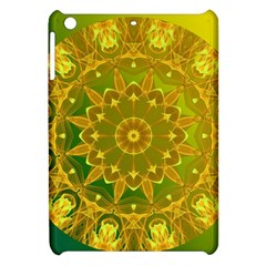 Yellow Green Abstract Wheel Of Fire Apple Ipad Mini Hardshell Case by DianeClancy