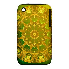 Yellow Green Abstract Wheel Of Fire Apple Iphone 3g/3gs Hardshell Case (pc+silicone)