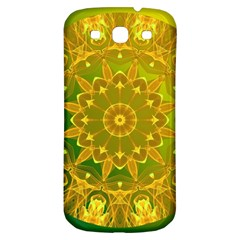 Yellow Green Abstract Wheel Of Fire Samsung Galaxy S3 S Iii Classic Hardshell Back Case