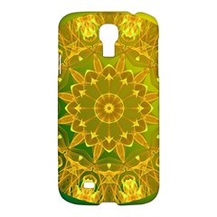 Yellow Green Abstract Wheel Of Fire Samsung Galaxy S4 I9500/i9505 Hardshell Case by DianeClancy