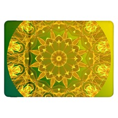 Yellow Green Abstract Wheel Of Fire Samsung Galaxy Tab 8 9  P7300 Flip Case
