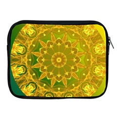Yellow Green Abstract Wheel Of Fire Apple Ipad Zippered Sleeve