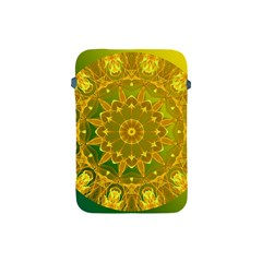 Yellow Green Abstract Wheel Of Fire Apple Ipad Mini Protective Sleeve
