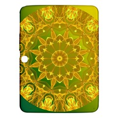 Yellow Green Abstract Wheel Of Fire Samsung Galaxy Tab 3 (10 1 ) P5200 Hardshell Case  by DianeClancy
