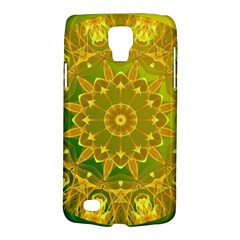Yellow Green Abstract Wheel Of Fire Samsung Galaxy S4 Active (i9295) Hardshell Case by DianeClancy