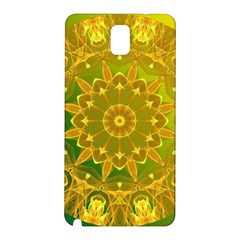 Yellow Green Abstract Wheel Of Fire Samsung Galaxy Note 3 N9005 Hardshell Back Case by DianeClancy