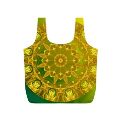 Yellow Green Abstract Wheel Of Fire Reusable Bag (s) by DianeClancy