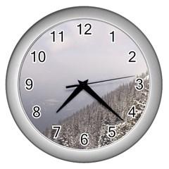 Banff Wall Clock (silver) by DmitrysTravels
