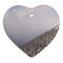 Banff Heart Ornament (two Sides) by DmitrysTravels