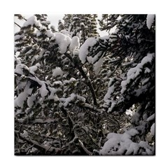 Snowy Trees Ceramic Tile