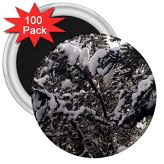 Snowy Trees 3  Button Magnet (100 Pack) by DmitrysTravels