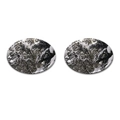 Snowy Trees Cufflinks (oval) by DmitrysTravels