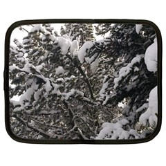 Snowy Trees Netbook Sleeve (large) by DmitrysTravels