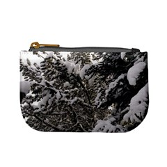 Snowy Trees Coin Change Purse by DmitrysTravels
