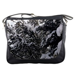 Snowy Trees Messenger Bag by DmitrysTravels
