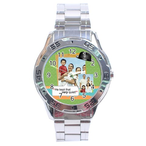 Fathers Day By Dad   Stainless Steel Analogue Watch   7y99p0jyajd0   Www Artscow Com Front