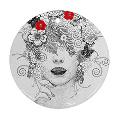 Flower Child Round Ornament by StuffOrSomething