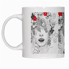 Flower Child White Coffee Mug by StuffOrSomething