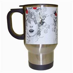 Flower Child Travel Mug (white) by StuffOrSomething