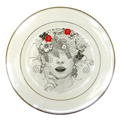 Flower Child Porcelain Display Plate by StuffOrSomething
