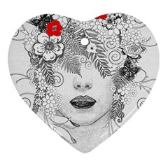 Flower Child Heart Ornament (two Sides) by StuffOrSomething