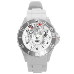 Flower Child Plastic Sport Watch (large) by StuffOrSomething