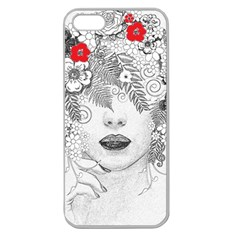 Flower Child Apple Seamless Iphone 5 Case (clear) by StuffOrSomething