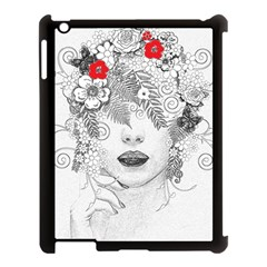 Flower Child Apple Ipad 3/4 Case (black) by StuffOrSomething