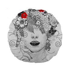 Flower Child 15  Premium Round Cushion  by StuffOrSomething