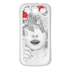 Flower Child Samsung Galaxy S3 Back Case (white) by StuffOrSomething