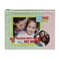 Mothers Day By Mom   Cosmetic Bag (xl)   Iu9u4xc8g8q8   Www Artscow Com Front