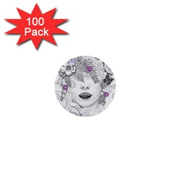 Flower Child Of Hope 1  Mini Button (100 Pack) by FunWithFibro