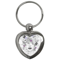 Flower Child Of Hope Key Chain (heart) by FunWithFibro