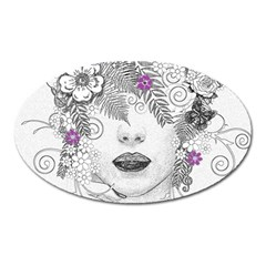 Flower Child Of Hope Magnet (oval) by FunWithFibro