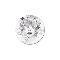 Flower Child Of Hope Golf Ball Marker by FunWithFibro
