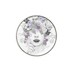Flower Child Of Hope Golf Ball Marker 4 Pack (for Hat Clip) by FunWithFibro