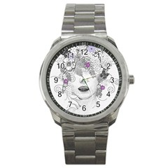 Flower Child Of Hope Sport Metal Watch by FunWithFibro