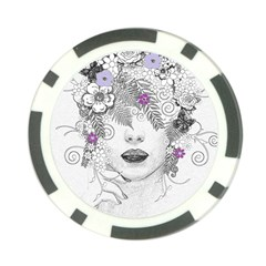 Flower Child Of Hope Poker Chip by FunWithFibro