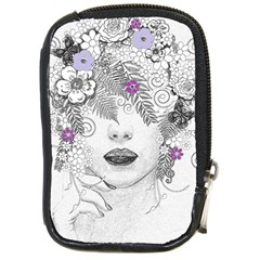 Flower Child Of Hope Compact Camera Leather Case by FunWithFibro