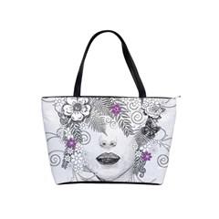 Flower Child Of Hope Large Shoulder Bag by FunWithFibro