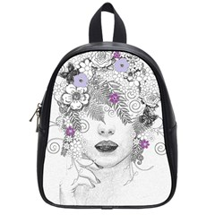 Flower Child Of Hope School Bag (small) by FunWithFibro