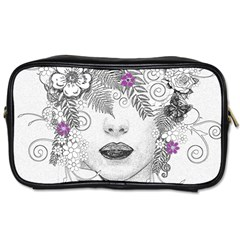 Flower Child Of Hope Travel Toiletry Bag (one Side) by FunWithFibro