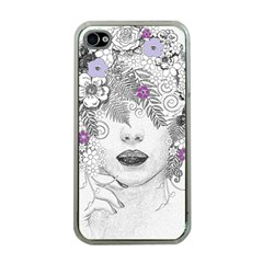 Flower Child Of Hope Apple Iphone 4 Case (clear) by FunWithFibro
