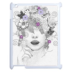 Flower Child Of Hope Apple Ipad 2 Case (white) by FunWithFibro