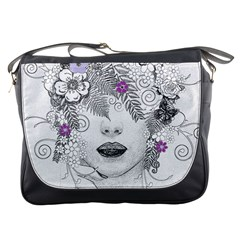 Flower Child Of Hope Messenger Bag by FunWithFibro