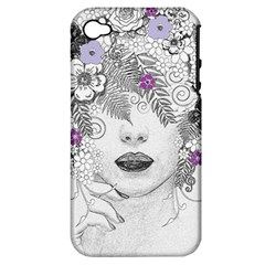 Flower Child Of Hope Apple Iphone 4/4s Hardshell Case (pc+silicone)