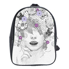 Flower Child Of Hope School Bag (xl) by FunWithFibro