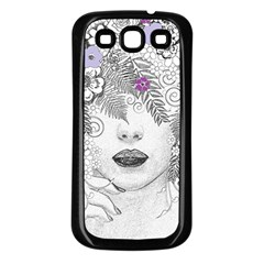Flower Child Of Hope Samsung Galaxy S3 Back Case (black) by FunWithFibro