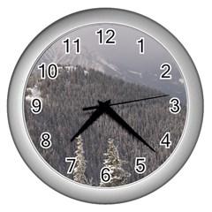 Mountains Wall Clock (Silver)